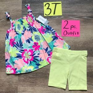 NWT Carter's 3T Girls 2 pc Matching Outfit